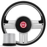 Volante-Esportivo-Rallye-Slim-Prata---Cubo-Fiat-147-78-a-87---Emblema-Fiat-Connect-Parts--1-