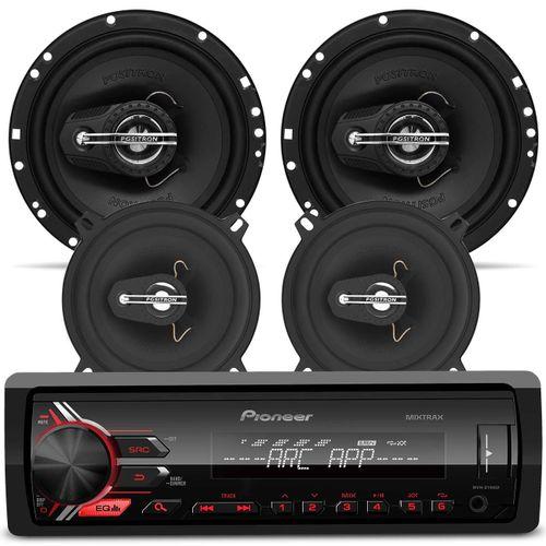 Radio-MP3-Player-Pioneer-MVH-X198UI-par-falante-5-6-pol-positron-Connect-Parts--1-