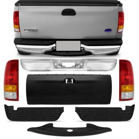 Para-Choque-Traseiro-Ford-F250-98-a-11-Pisante-Preto---Tampa-Traseira---Lanterna-connect-parts--1-