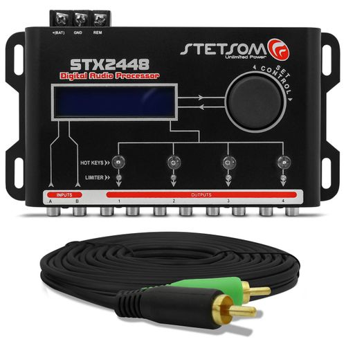 Processador-de-Audio-Digital-Stetsom-STX2448---Cabo-RCA-Tech-One-Duplo-5-Metros-connect-parts--1-