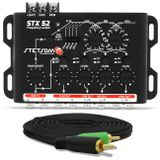 Crossover-Stetsom-Stx52-4-Vias---Cabo-RCA-Tech-One-Duplo-4mm-5M-connect-parts--1-