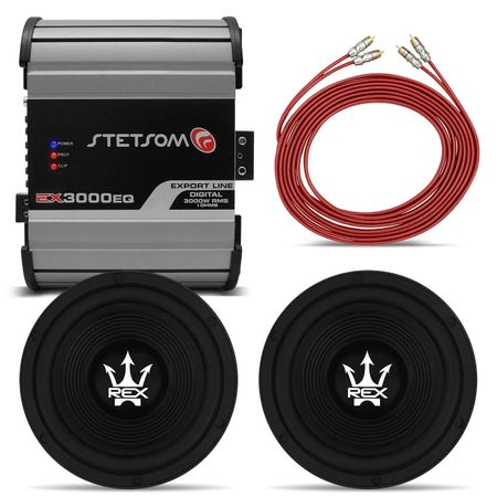 2-Subwoofers-Magnum---Modulo-Stetsom---Cabo-RCA-Connect-Parts--1-