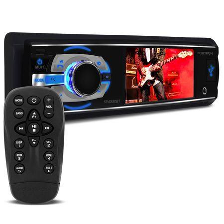 DVD-Player-Positron-SP4330BT-1-Din-3-Polegadas-Bluetooth---Kit-Facil-Bomber-220w-RMS-connect-parts--1-