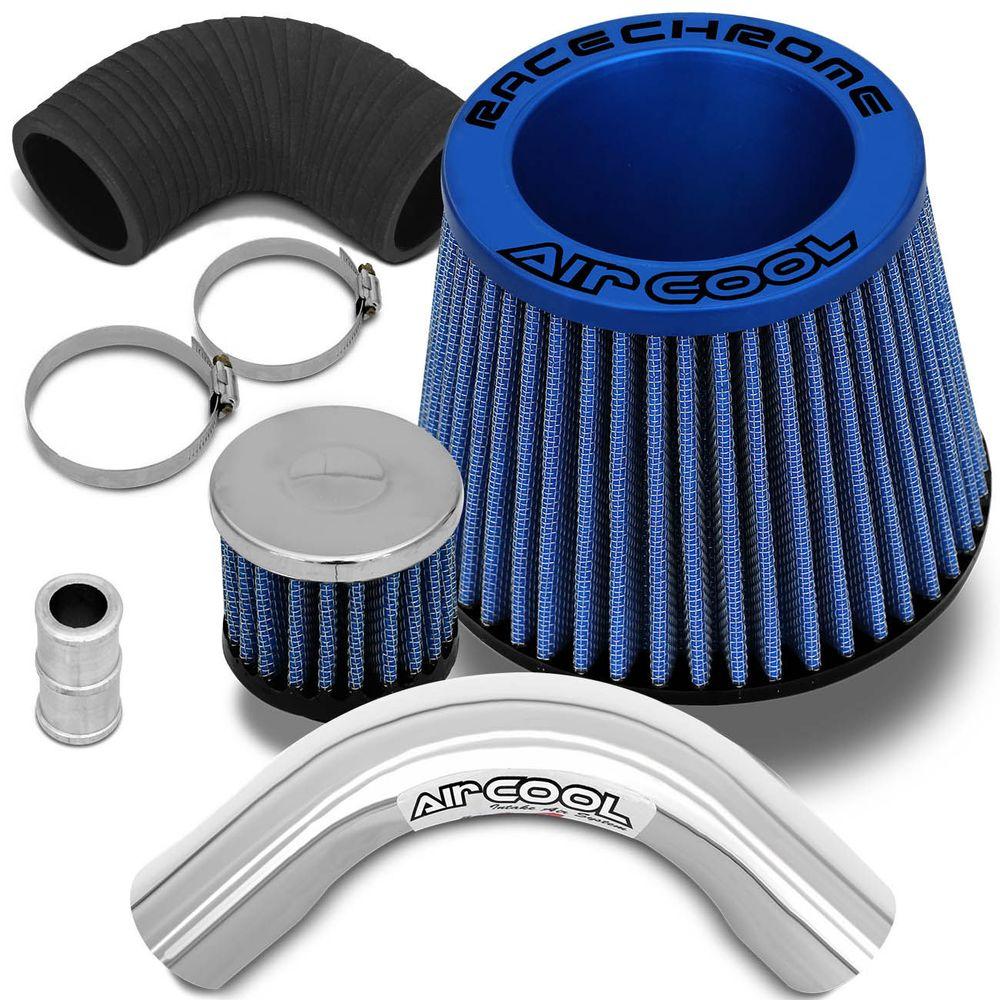 7d57194d3 Kit Air Cool Filtro Ar Esportivo Race Chrome Gol G2 96 a 99 Mono Fluxo Azul