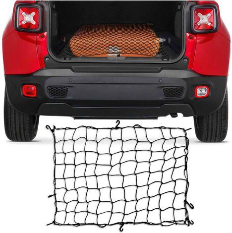 200682be442 Rede Elástica para Porta Malas Bagageiro Carro Caçamba Preta com Ganchos  Plásticos