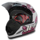 Capacete Feminino Motocross Pro Tork Jett Veneno Branco e Rosa 3aa29cd0db