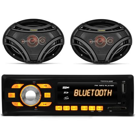 Mp3-Player-Hurricane-Hr-414-Bluetooth-Usb---Par-de-Alto-Falantes-Quadriaxial-Bomber-6x9--connect-parts--1-