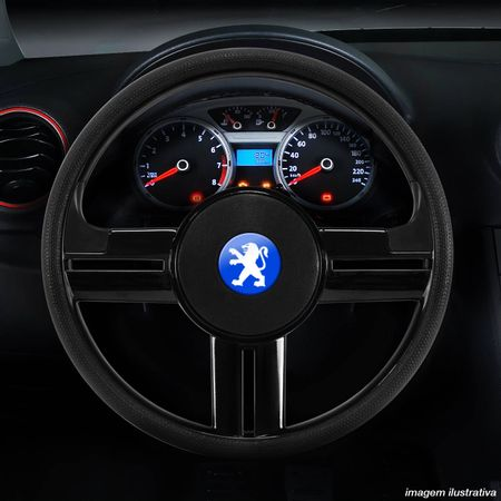 Volante-Esportivo-Rallye-Slim-Preto-Com-Acionador-de-Buzina---Cubo-Peugeot-206-207-306-04-a-12-Connect-Parts--1-
