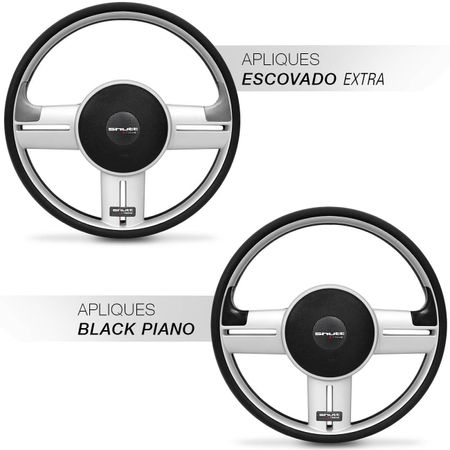 Volante-Rally-Slim-Prata-Apliques-Preto-Prata-connectparts--2-