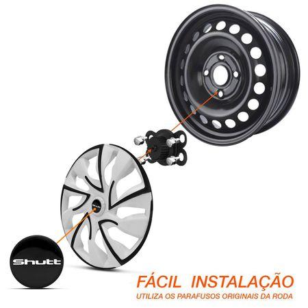 Kit-Calota-Esportiva-DS4-Black-White-Shutt-Aro-13-Branca-e-Preta-Otimo-Acabamento-Universal-Connect-Parts--4-