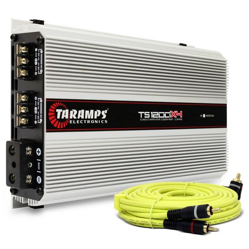 Modulo-Taramps-Ts-1200x4-1200w-Rms-4-Canais-2-Ohms---Cabo-Rca-Audiophonic-Blindado-Connect-Parts--1-