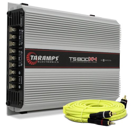 Modulo-Taramps-Ts800-Compact-4-Canais-800w-Rms---Cabo-Rca-Audiophonic-Connect-Parts--1-