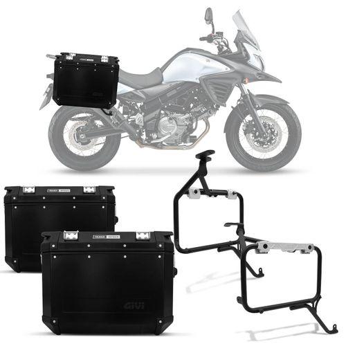 Bauleto-Moto-Suzuki-V-Strom-650-14-15-Givi-Trekker-Outback-Preto-48-Litros---Suporte-Connect-Parts--1-