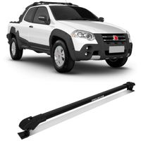Rack de Teto Travessa Slim Fiat Strada Adventure Locker 2009 a 2013 Preto Suporte 45 Kg