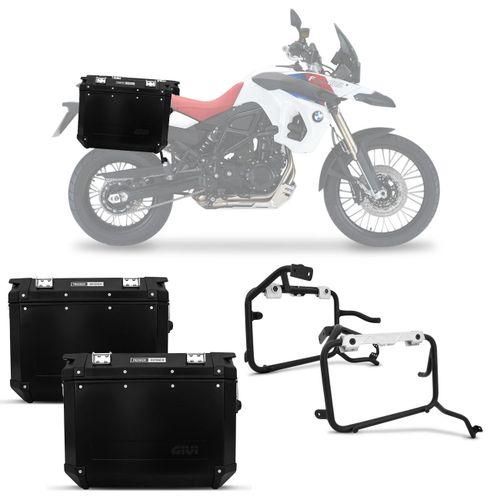 Bauleto-Moto-BMW-F800-GS-07-a-16-Givi-Trekker-Outback-Preta-48-Litros---Suporte-Connect-Parts--1-