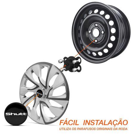 Calota-Esportiva-Aro-14-DS4-Sport-Cup-Universal-Grafite-e-Prata-Modelo-Tuning-Connect-Parts--4-