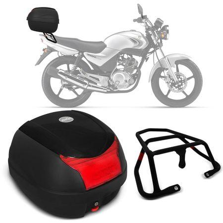 Bauleto-Bau-Moto-Yamaha-YBR-125-00-a-14-Givi-Monolock-29-Litros-Preto---Bagageiro-connect-parts--1-