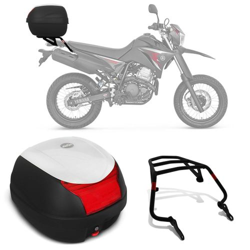 Bau-Bauleto-Moto-Yamaha-XTZ-Lander-06-a-16-Givi-Monolock-29-Litros-Preto-Branco---Bagageiro-Connect-Parts--1-