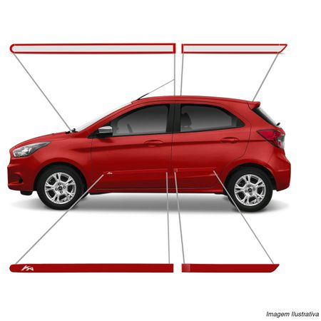 Jogo-Friso-Lateral-Personalizado-Ford-Ka-Hatch-Sedan-2014-Em-Diante-Vermelho-Arpoardor-connectparts--5-