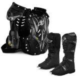 Bota-Motocross-Pro-Tork-Combat-III-Black-Trilha-Enduro-Preto---Colete-Protecao-788-Preto-Connect-Parts--1-