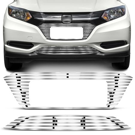 Sobre-Grade-Inferior-Para-choque-Filete-Horizontal-Honda-HRV-15-16-17-Cromado-Flat-connect-parts--1-