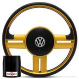 Volante-Esportivo-Rallye-Preto-e-Dourado-Acionador-Buzina---Cubo-3229-G5-G6-Connect-Parts--1-