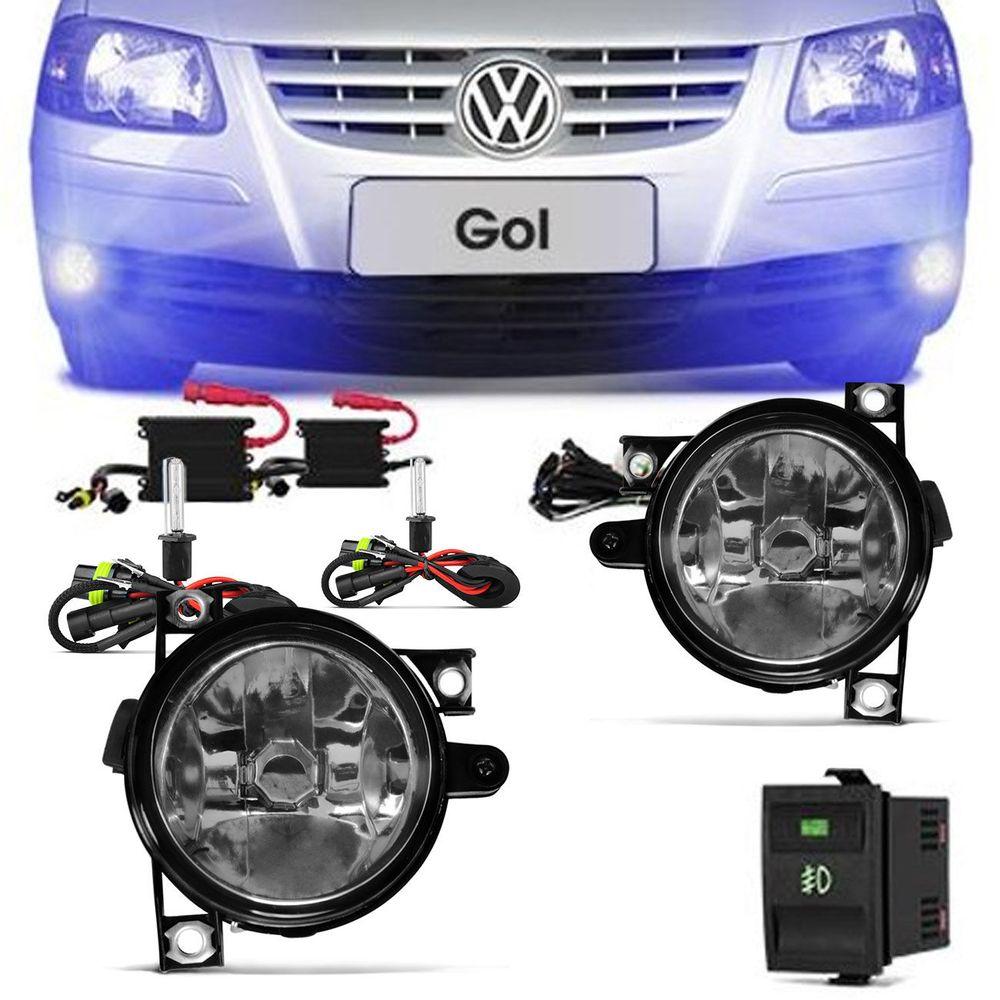 4c5f469452 Kit Farol Milha Gol Parati Saveiro G4 2006 a 2012 + Kit Xenon 8000K Azulado