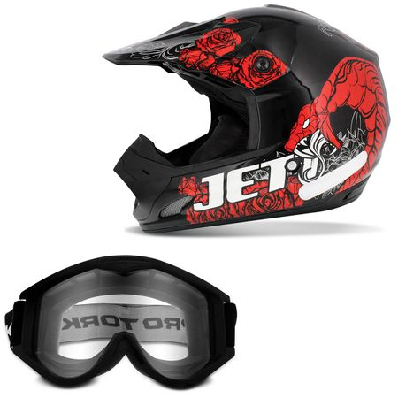 Capacete-Pro-Tork-Fechado-Cross-Jett-Veneno-Preto-Vermelho-Branco---Oculos-Protecao-788-Preto-connect-parts--1-