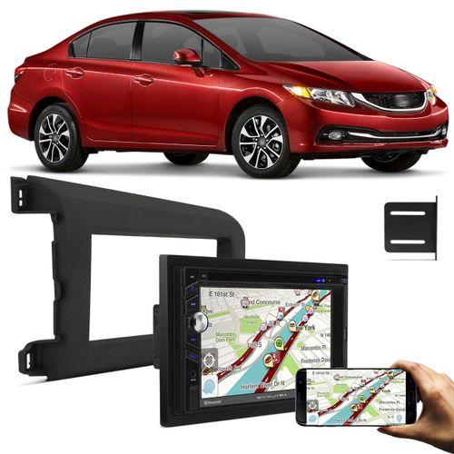 Central-Multimidia-Evolve---Moldura-Painel-2-Din-Honda-Civic-2012-2013-2014-Preta-Connect-Parts--1-