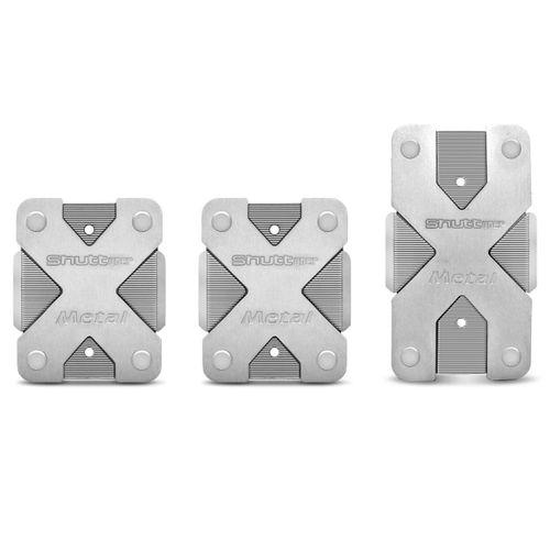 Jogo-de-Pedaleiras-Esportivas-Shutt-PMX1S-Prata-Fosco-Antiderrapante-Acabamento-Impecavel-Universal-connectparts--1-