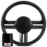 Volante-Esportivo-Rallye-Slim-Grafite---Acionador-de-Buzina---Cubo-Jeep-Willys-57-a-83-Connect-Parts--1-
