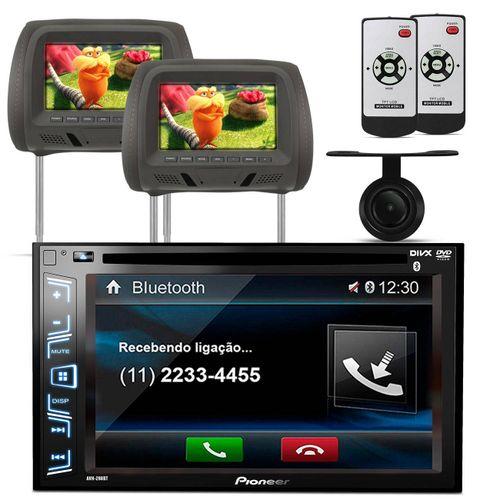 DVD-Player-Pioneer-AVH-298BT-2-Din---Camera-de-Re---Moldura-do-Painel-2-Din-Universal-Preta-Connect-Parts--1-