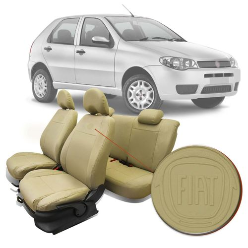 Capa-Banco-Couro-Ecologico-Palio-Fire-2004-A-2012-Fiat-Automotiva-Bege-10-Pecas-connectparts--1-