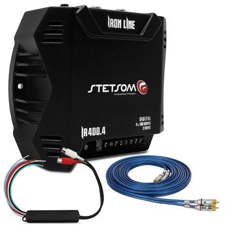 Modulo-Stetsom-Iron-Line-IR-400W-RMS---Cabo-RCA-Taramps-5-Metros---Adaptador-para-Cabo-RCA-connect-parts--1-