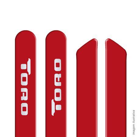 Jogo-Friso-Lateral-Borrachao-Toro-16-e-17-Vermelho-Colorado---Estribo-Lateral-Track-Aluminio-Preto-Connect-Parts--1-
