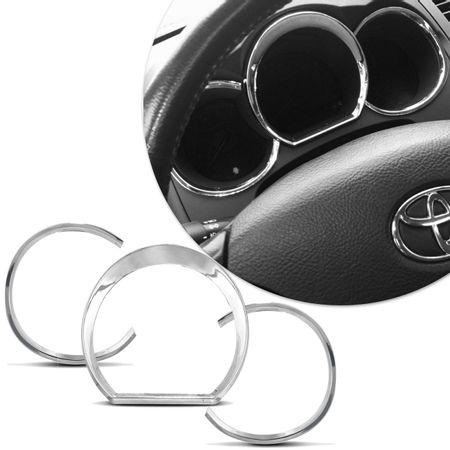 Jogo-e-Apliques-Cromados-Aro-Relogio-Painel-Toyota-Hilux-05-a-11-Plastico-ABS-3-Pecas-Dupla-Face-connectparts--1-