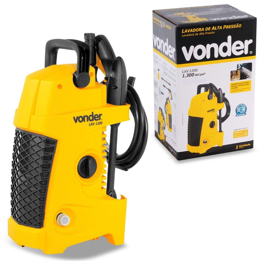 10ee2921a5e Lavadora de Alta Pressão Vonder 1200W 127V 1300 Libras LAV1200 Universal  Amarelo e Preto