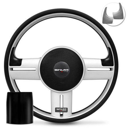 Volante-Shutt-Rallye-Prata-Xtreme-Aplique-Preto-e-Prata-Escovado---Cubo-Ka-Focus-Fiesta-Linha-Ford-connect-parts--1-