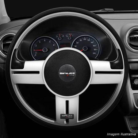 Volante-Shutt-Rallye-Prata-Xtreme-Aplique-Preto-e-Prata-Escovado---Cubo-Ka-Focus-Fiesta-Linha-Ford-connect-parts--5-