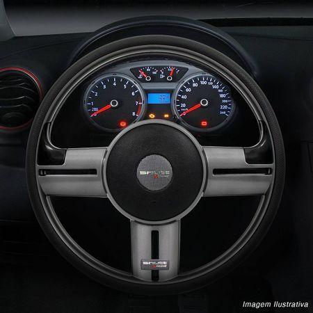 Volante-Shutt-Rallye-Grafite-Extreme-Aplique-Preto-e-Prata-Escovado---Cubo-Chevette-Chevy-Marajo-connect-parts--1-