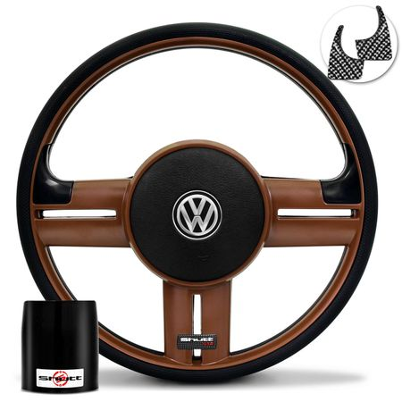 Volante-Shutt-Rallye-Whisky-GTR-Aplique-Preto-e-Carbono-Cubo-Gol-Saveiro-Golf-Polo-Linha-VW-Connect-Parts--1-