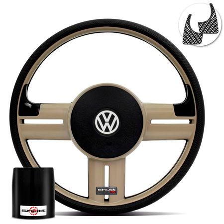 Volante-Shutt-Rallye-Bege-RS-Aplique-Preto-e-Carbono---Cubo-Santana-Fusca-Voyage-Passat-Linha-VW-Connect-Parts--1-