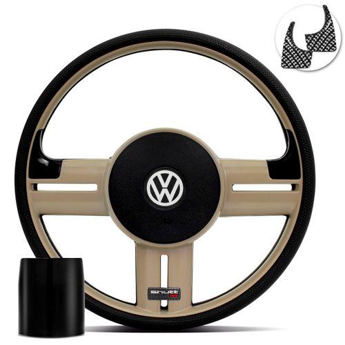 Volante-Shutt-Rallye-Bege-RS-Aplique-Preto-e-Carbono---Cubo-Santana-Fusca-Voyage-Linha-VW-Connect-Parts--1-