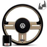 Volante-Shutt-Rallye-Bege-RS-Aplique-Preto-e-Carbono---Cubo-Gol-Fox-Saveiro-Golf-Polo-Linha-VW-Connect-Parts--1-