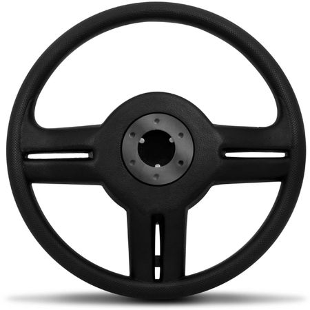 Volante-Shutt-Rallye-Prata-Xtreme-Aplique-Preto-e-Prata-Escovado---Cubo-Gol-Fox-Golf-Polo-Linha-VW-connect-parts--3-