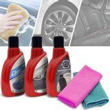 Kit-Limpeza-Automotiva-Clean-Car-Detergente-com-Cera-Renovador-de-Couro-Limpa-Pneu-2-Flanelas-connectparts--1-