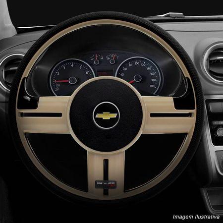Volante-Shutt-Rallye-Bege-RS-Aplique-Preto-e-Carbono---Cubo-Chevette-Chevy-Marajo-73-a-95-connect-parts--1-