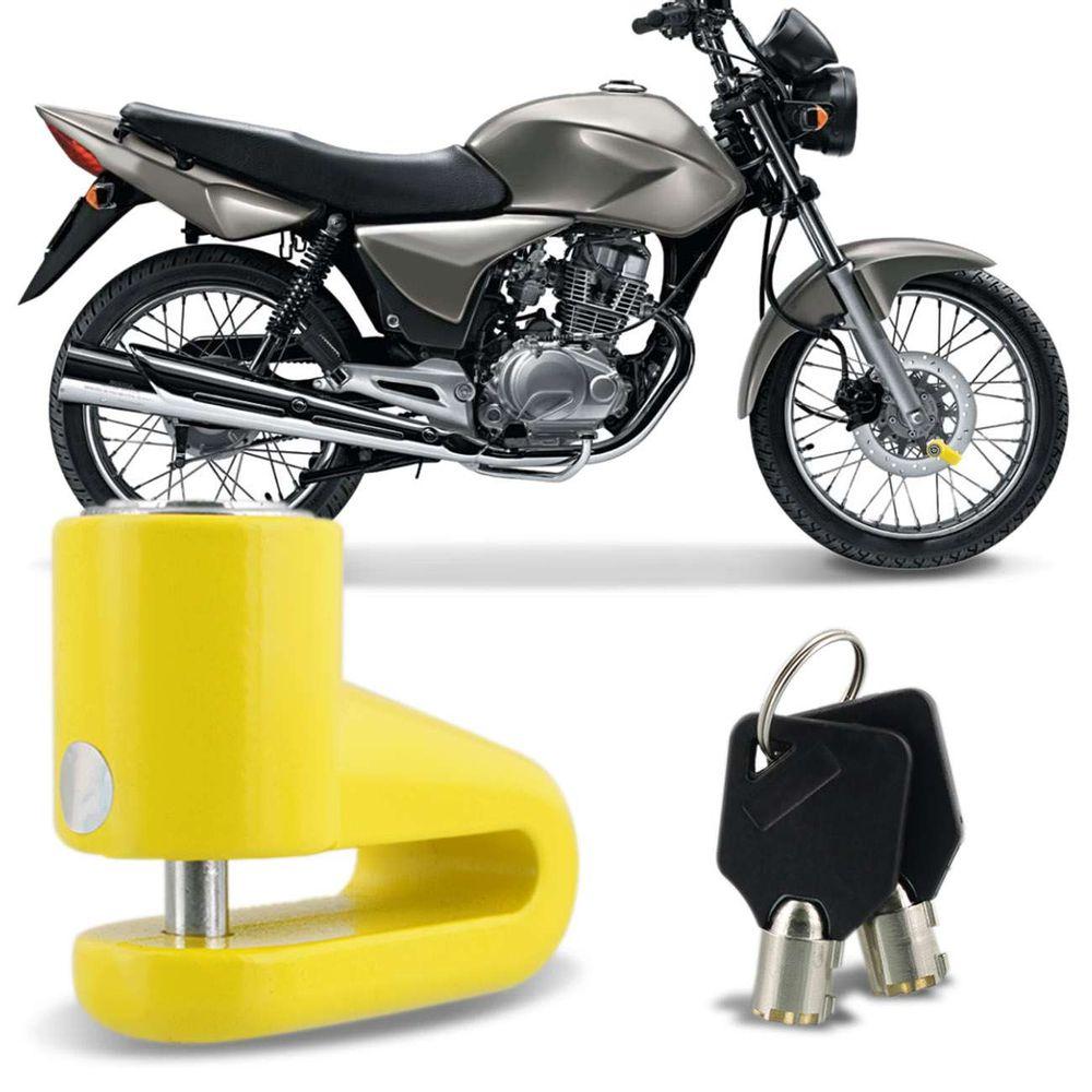 30e8e22da Menor preço em Trava Disco Moto Antifurto Cadeado de Freio a Disco Universal  Amarelo