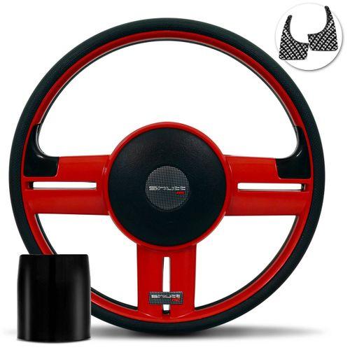 Volante-Shutt-Rallye-Vermelho-RS-Aplique-Preto-e-Carbono---Cubo-Escort-Logus-1993-a-1998-Connect-Parts--1-
