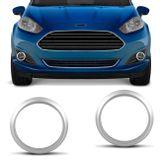 Par-de-Apliques-Moldura-Aro-do-Farol-de-Milha-Ford-New-Fiesta-2014-a-2017-Prata-Encaixe-Sob-Medida-connectparts--1-